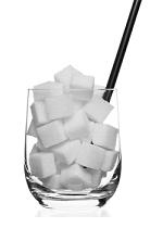 glas met suiker