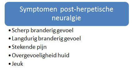 symptomen post herpetische neuralgie